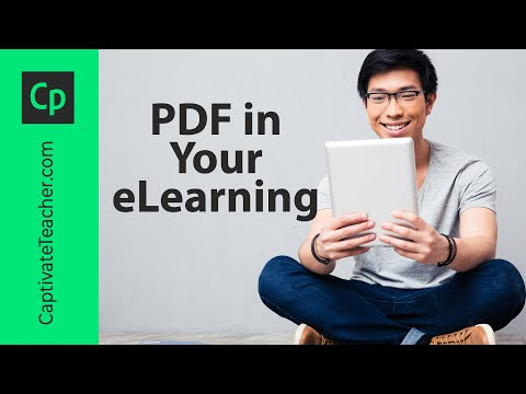 Put a PDF in Your Adobe Captivate eLearning