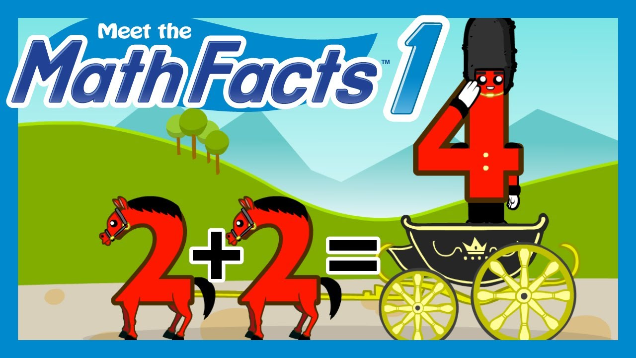 Meet the Math Facts Level 1 - 2+2=4 - YouTube