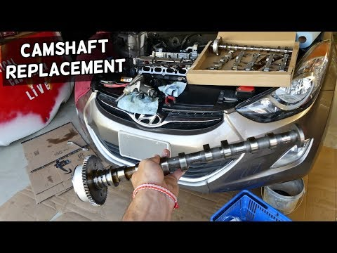 HOW TO REPLACE CAMSHAFT ON HYUNDAI ELANTRA 1.8 2.0 NU