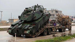 Турецкие танки идут к сирийской границе
