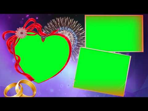 love-symbol-with-green-mat-wedding-background-frames-video