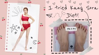 I TRIED KANG SORA DIET | LOSE 1KG IN 3 DAYS (Indo Sub)