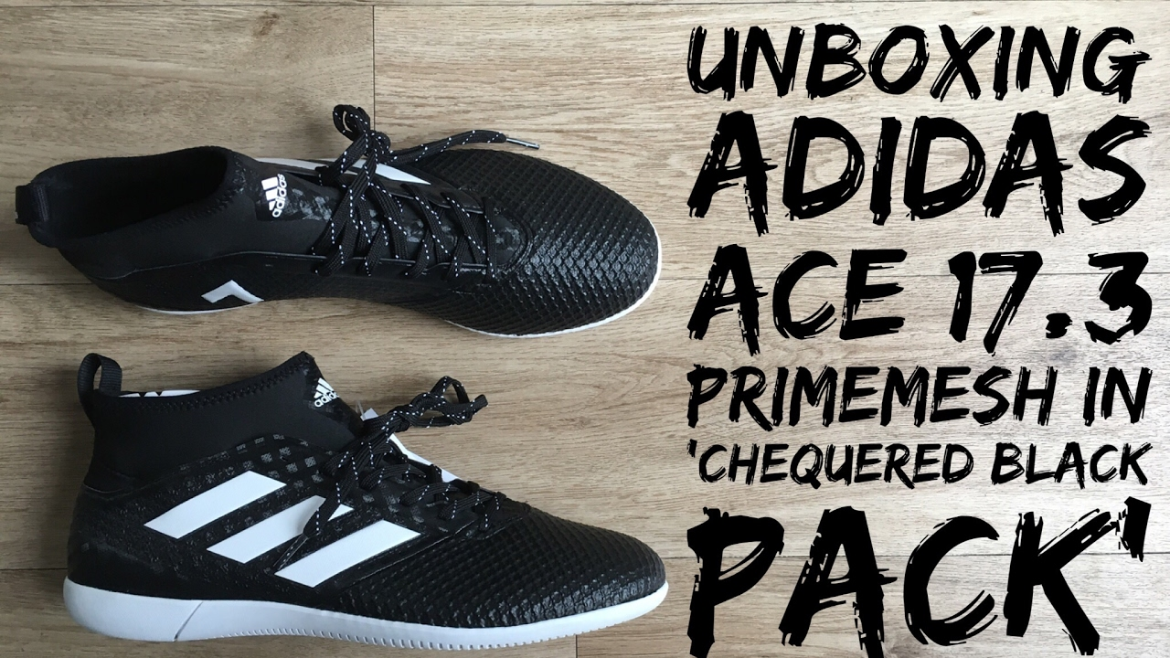 8e81af98399d ... free shipping adidas ace 17.3 primemesh in chequered black pack unboxing  football shoes 2017 hd 53db1