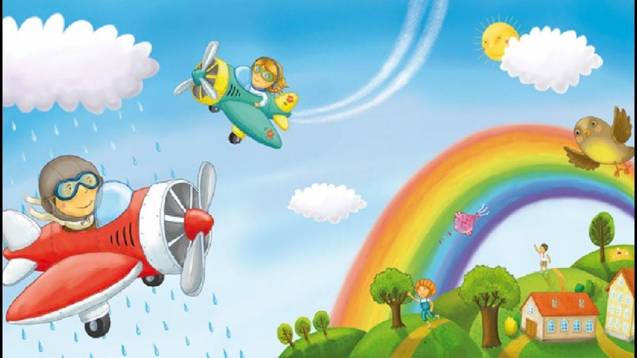 Картинка самолета взлетающего для детей