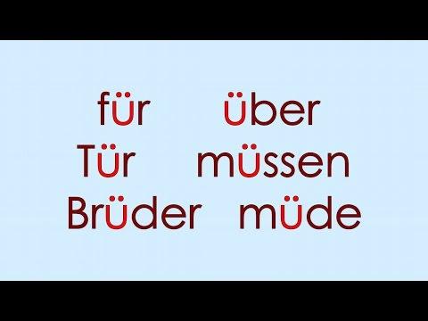 Deutsch Alphabet 9: Ä Ö Ü ß
