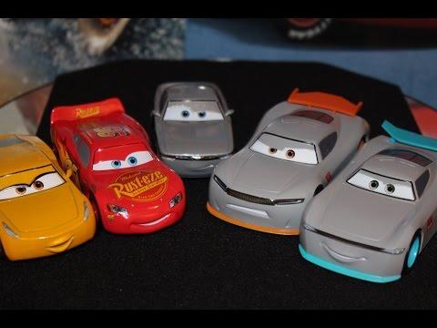 Disney Store Cars 3 McQueen, Cruz, Sterling & Next Generation Rust-Eze Racers 5-Pack