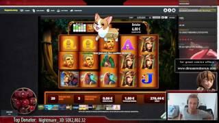 BIG WIN - Montezuma - 10x spins - WMS Slot - 206x win