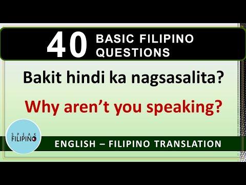 BASIC FILIPINO QUESTIONS #3 (English - Tagalog Translation)