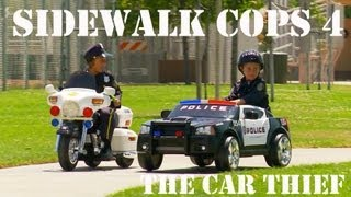 Sidewalk Cops 4 - The Car Thief(In this episode of Sidewalk Cops, Sidewalk Police Officers Gabe and Micah track down a repeat-offender car thief who also steals anything he can get his hands ..., 2013-08-12T19:55:14.000Z)