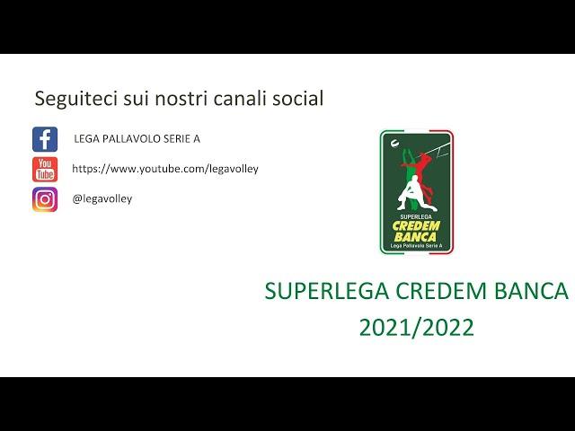 Calendario SuperLega Credem Banca 2021/2022