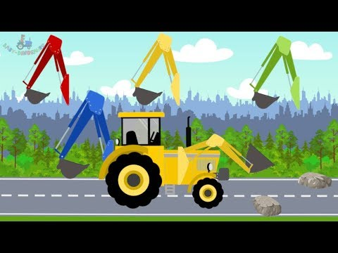 #Excavator and Truck | Tractor bulldozer | Street Vehicles  | Learning colors YELLOW -video for kids