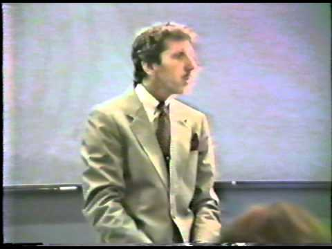 Dr. Dennis Becker at Harvard University in 1987 - From the SPEECH Archives