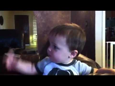 11 month old baby makes passionate speech!