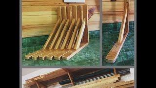 Escuadras de madera para soportar carga, reutilizando material. DIY.