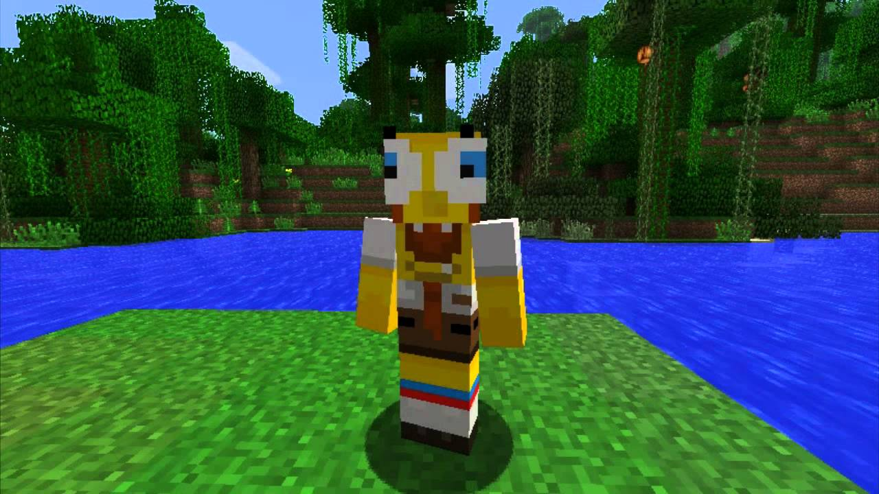 Minecraft Skins Cartoon Minecraft Skins Spongebob Squarepants YouTube - Spongebob skins fur minecraft