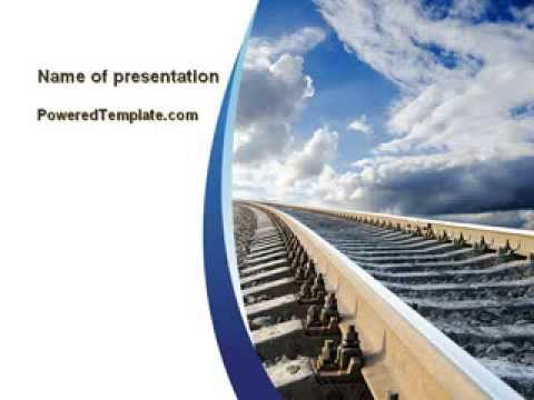 railway track powerpoint template by poweredtemplatecom
