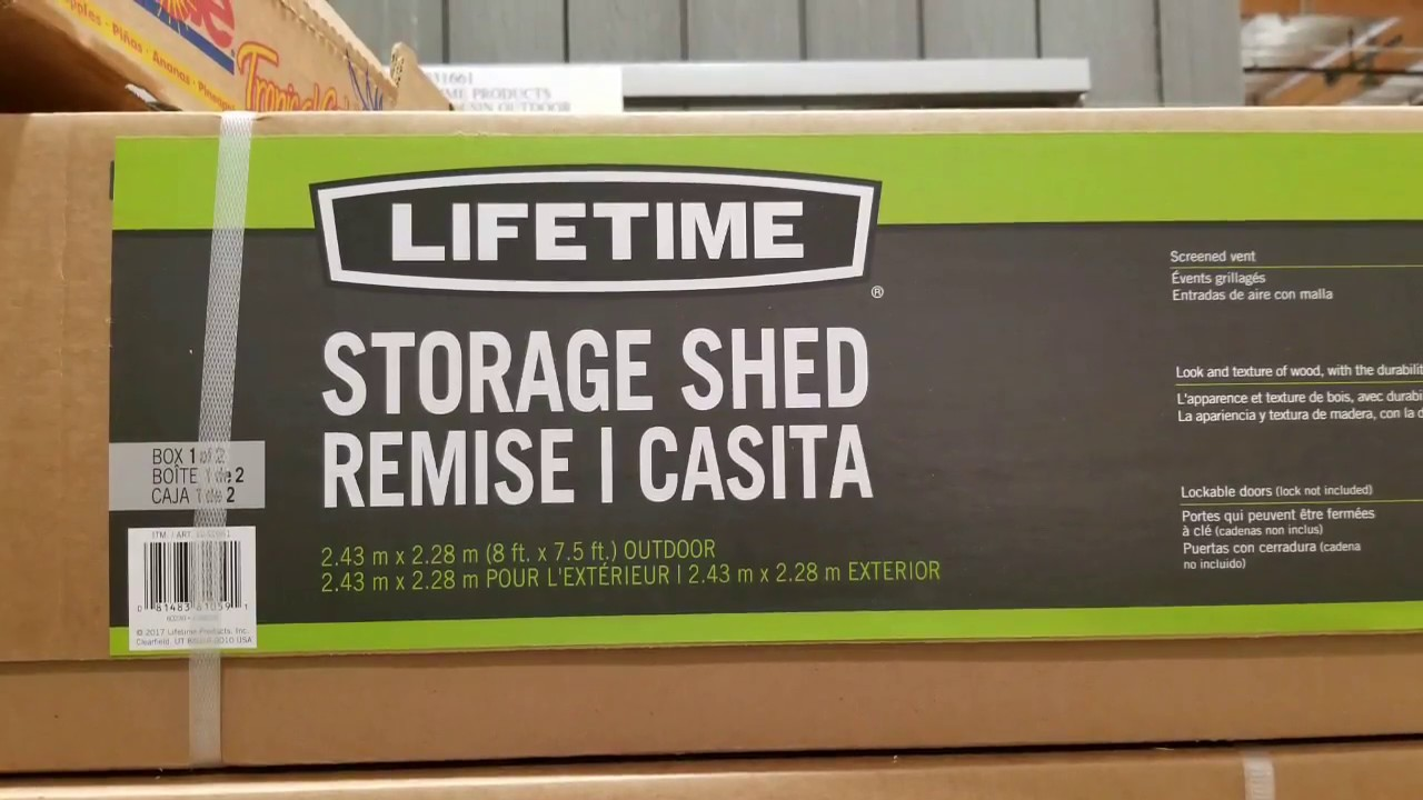 Costco! Lifetime Outdoor Storage Sheds And Cabinets!