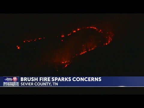 Fire chief: Sevier Co. brush fire not yet contained; Emergency crew member injured