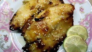 Запеченная рыба в соево-медовом маринаде