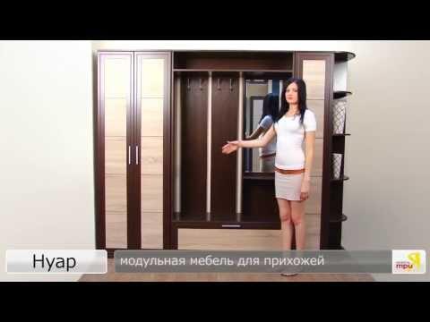 «Нуар» модульная мебель для прихожей