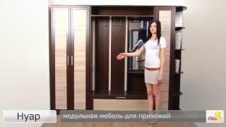 «Нуар» модульная мебель для прихожей(каркас: Венге Цаво; профиль: Венге Цаво; вставка: Дуб Сонома подробности на http://www.triya.ru., 2013-07-30T05:10:33.000Z)