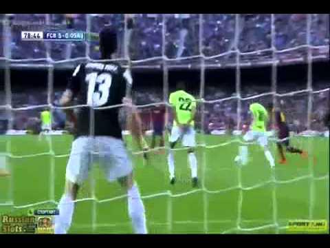 Barcelona vs Osasuna 7 0 2014 All Goals   Match Highlights 16 03 2014