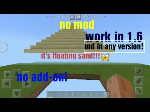 mcpe: floating sand/gravel all versions