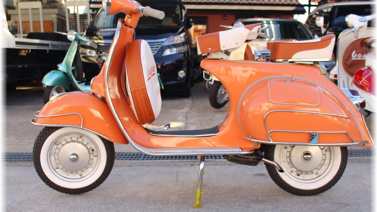 vintage VESPA VBB1 orange color