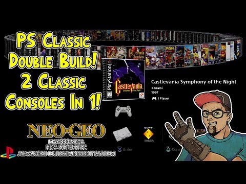 Ultimate PlayStation Classic Build 2 Consoles In 1! Neo Geo Mini & 100+ PSX Games BleemSync Hack!