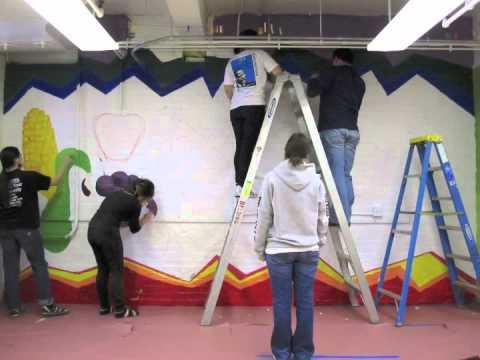 HOMEGROWN - Belding Elementary School Mural 2011