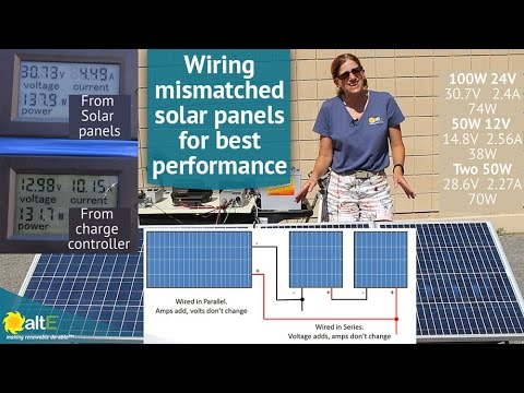How to Wire Mismatched Solar Panels in series and parallel  YouTube