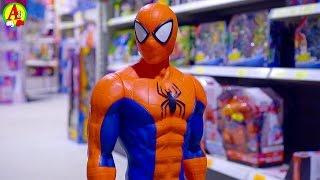 фигурка человека паука видео