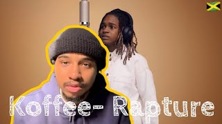 American First Reaction To Jamaican Music | Koffee - Rapture