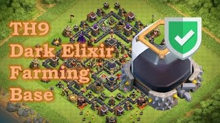 'Best' TH9 X-Bow DE Farming Base! Anti Valks, Anti Hogs, Anti Lavaloon, Anti Earthquake| CoC 2017