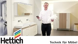 Technology For Furniture In Bathrooms: Hettich Hinges, Drawer + Sliding Door Systems