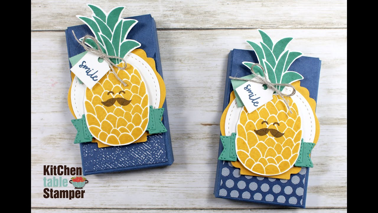 Stampin Up Cute Fruit Juicy Fruit Gum Treat Box Tutorial With Kitchen Table Stamper Youtube