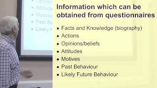 Question types & piloting. Part 1 of 3 on Questionnaire Design