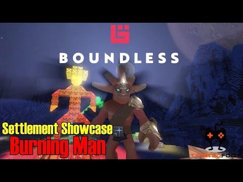 Settlement Showcase EP1 - Burning Man | Boundless Let's Play Gameplay PC