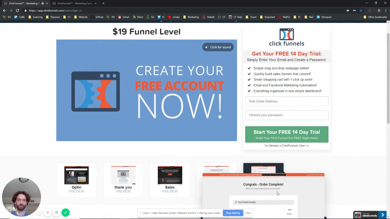 ClickFunnels pricing & how to get the share funnel price of $19