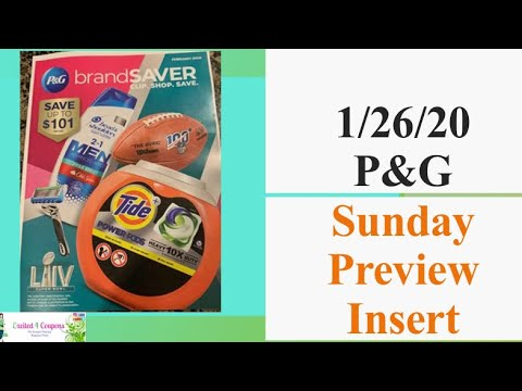 Some great coupons 1/26/20 P&G February 2020 Insert Preview | 2020 Sunday Insert Schedule