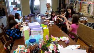 Mackenna and her friends trading the silly bands they received in t...