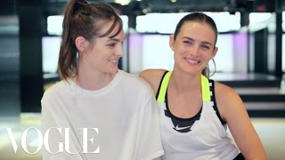 Watch Sisters Laura and Nathalie Love Train for a 15K Race