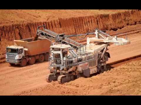 Bauxite mining in Guinea, Boké,  a major mining town,  Boké Prefecture
