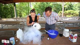 Making Liquid Nitrogen Ice Cream With 'Dr. B'