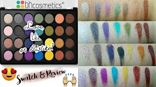 love like or dislike  new bh cosmetics 28 color foil eyes palette   swatch review