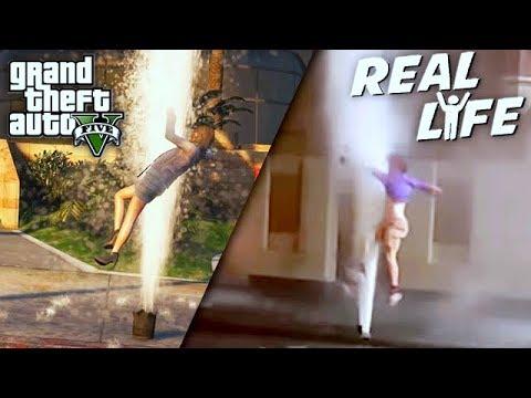 GTA 5 VS REAL LIFE 11 ! (fun, fail, stunt, ...)