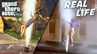 GTA 5 VS REAL LIFE 11 ! (fun, fail, stunt, ...)