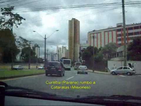 Estado de Parana (Brasil) desde el Litoral, pasando por Curitiba hasta Misiones (Argentina)