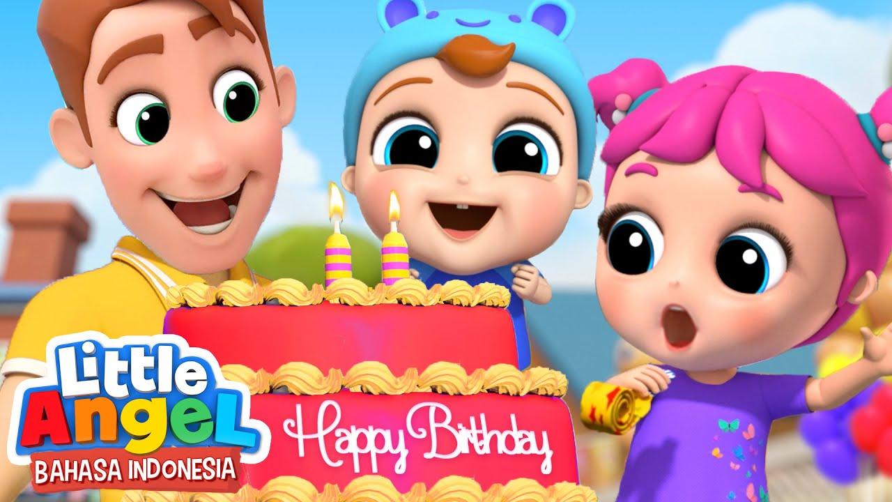 Download Pesta Ulang Tahun Baby John  🎂 Kartun Anak | Little Angel Bahasa Indonesia