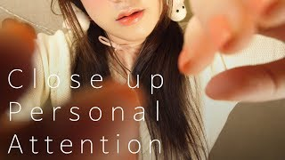 ASMR Close up Personal Attention for Your Sleep 시각적 팅글